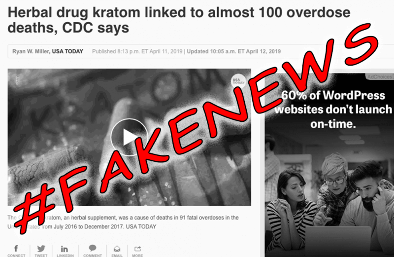 Debunking the LAMEstream Media #FAKENEWS That Kratom Caused 90 Overdose Deaths