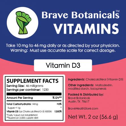 Vitamin D3 Powder (2 ozs.)